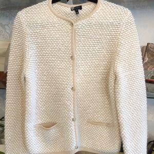 ESCADA Cream & Beige Wool Blend Chunky Cardigan
